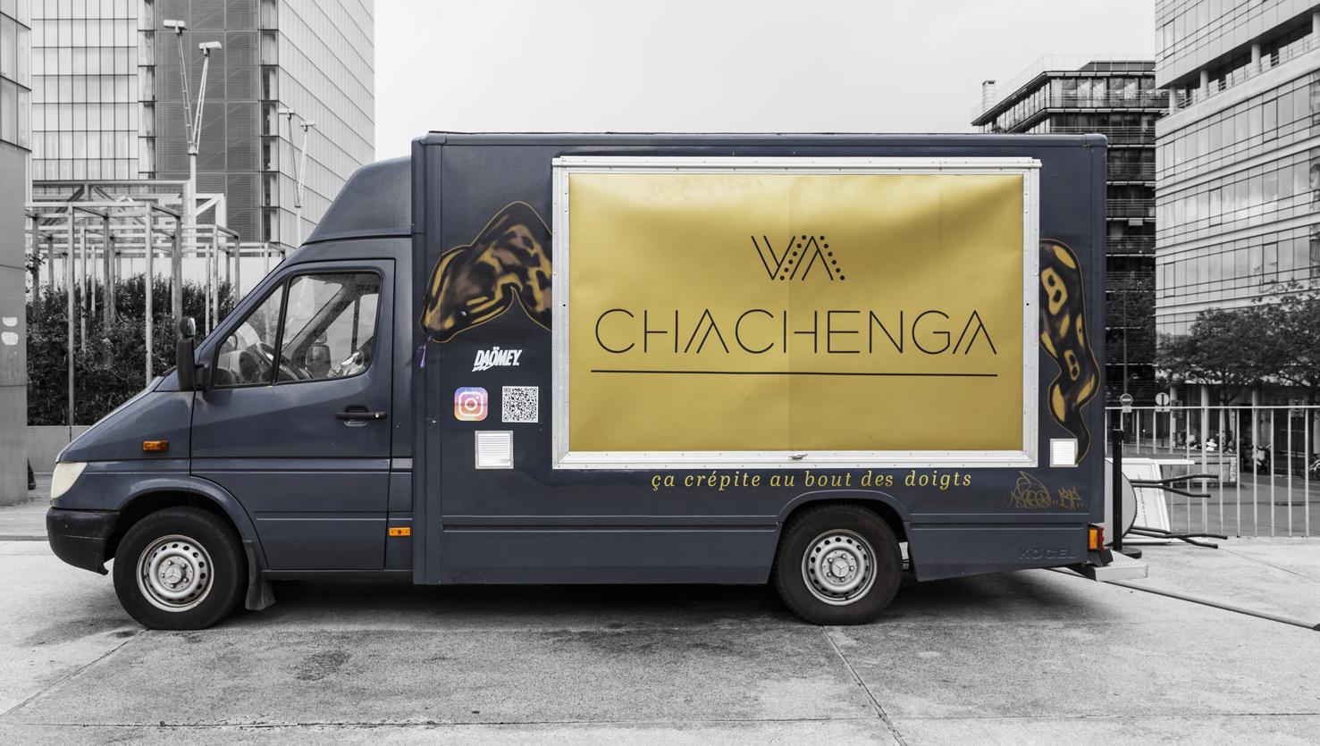 camion de food truck chachenga, restauration béninoisea